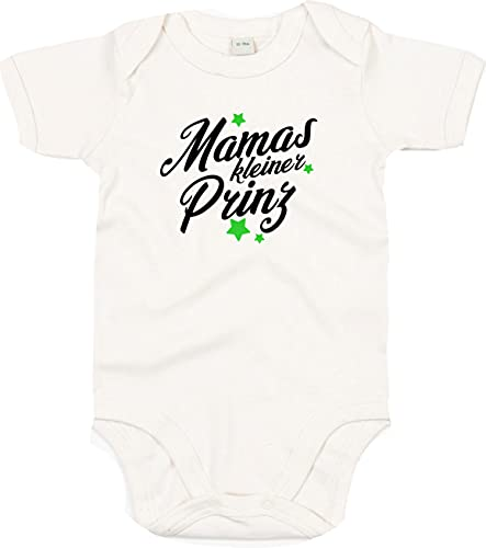 Kleckerliese Body à manches courtes pour bébé garçon et fille Motif Mamas Petit prince - Beige - 0-3 mois