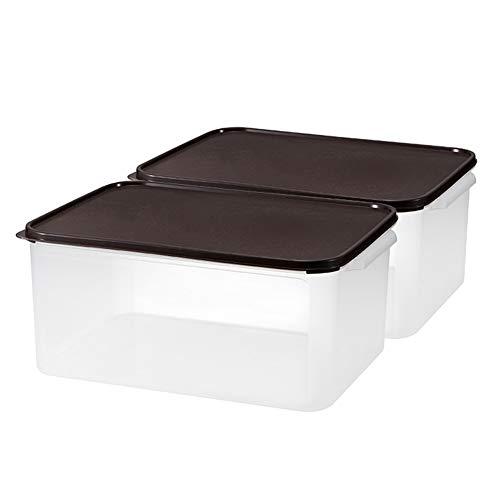 Schüttdosen Streudosen Insektensicher Hohe Kapazität Stapelbar Plastik Zum Küche 2 Größen (Color : Brown, Size : 15Lx2)