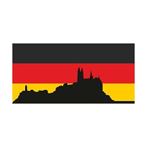 Wandtattoo Wandsticker Fussball Deutschland Meisterschaft Europameisterschaft EM Flagge Meißen (70x34cm) Wandaufkleber Wandsticker Wanddeko Germany EM018