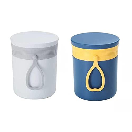 WSYGHP Fiambreras con cuchara y tapa, a prueba de fugas, herméticas para niños y adultos, para sopa, comida azul (color: mix1, tamaño: 2 unidades)