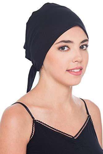 Komfort Baumwolle-Kappe Mit Binde An Der Ruckseite (Schwarz)