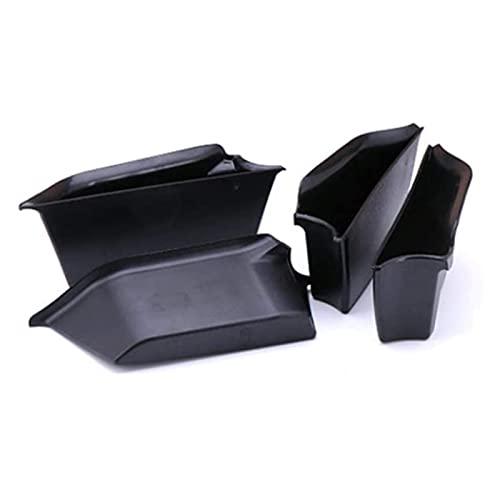 yiping Caja de almacenamiento de reposabrazos para puerta lateral de coche, 4 unidades, para Mini Cooper F55, organizador de contenedores de teléfono de la puerta, bandeja de ABS