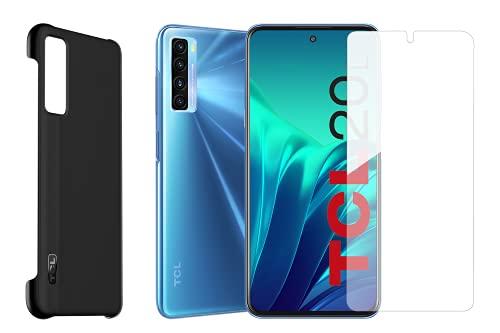 TCL 20L - Smartphone 4G Dual Sim + Back Cover Rigida Originale e Pellicola Protettiva, Display 6.67  FHD+, 128 GB, 4GB RAM, Quadrupla Camera, Android 11, Batteria 5000 mAh, Blue [Italia]
