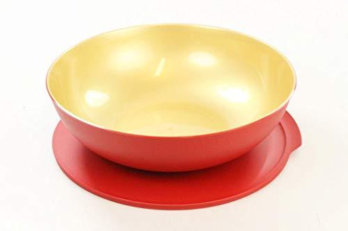 TUPPERWARE Allegra 3,5 L rot gold Servier Schüssel Schale Servierschale