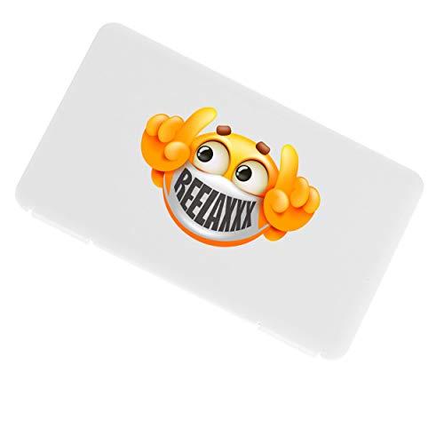 REELAXXX Kunststoff-Lagerbox Aufbewahrungsbox aus Kunststoff für Maske, Schmuck, Karten und Zubehör, wasserdichte Tasche, wasserdichte Faltschachtel, Schachteln mit Deckel (WeiB1)