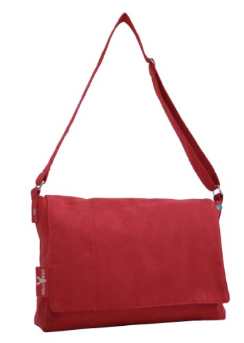 Wallaboo Changing bag messenger red Wickeltasche
