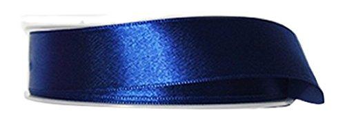 P&B de Haute qualité Double Face Ruban Satin, Polyester, Bleu foncé, 24 mm x 25 m