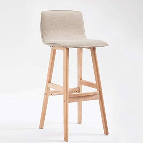 Barhocker Barhocker mit Gegenhöhe Massivholz Barhocker Einfacher Hochstuhl Barhocker Front Desk Chair Moderner Barstuhl Hochhocker Oak Step Hocker (Farbe: Weiß, Größe: 55 cm)