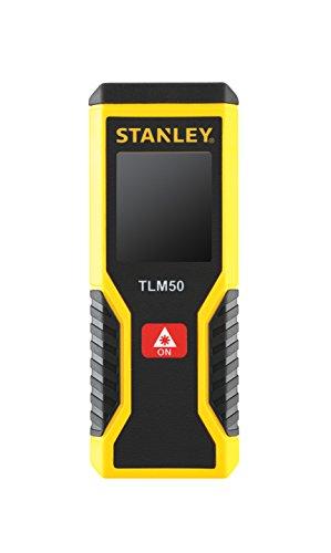 Stanley STHT1-77409 Laser-Entfernungsmesser / Distanzmesser TLM50 (mit Ein-Knopf-Klick-Messung, Messbereich 0,15 m bis 15 m, +/- 3 mm Messgenauigkeit, kompaktes Bi-Material Gehäuse)