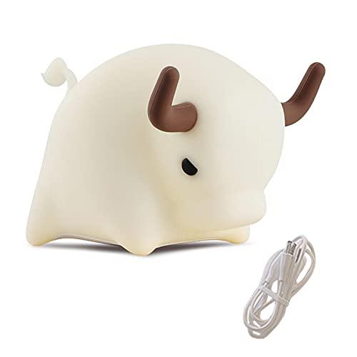 Luz de noche, LED linda luz de noche para bebé, lámpara Kawaii, portátil, de silicona suave, recargable por USB, regalo para niños o adolescentes decoración de habitación