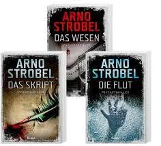 Geschenkidee 3 Bände der Psychotrhiller Reihe von Arno Strobel 1. Das Skript & 2. Das Wesen & 3. Die Flut