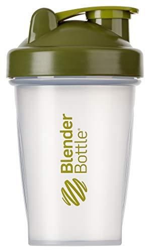 BlenderBottle Classic Shaker | Shaker Protéine | Bouteille d'eau |Blenderball | 590ml - moss vert / transparent