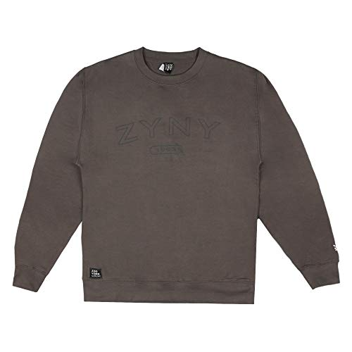 Zoo York Arch Bank Crew Pullover, Steel Grey, Large Uomo