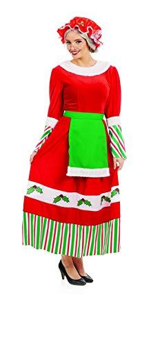 Fun Shack Disfraz de Mamá Noel para Mujer. Vestido Tradicional navideño de la Mujer de Papá Noel, Talla XXL