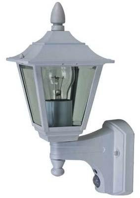 Lanterne blanche 4 faces avec PIR