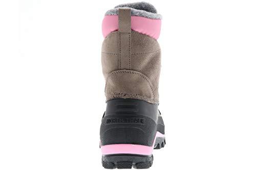 SPIRALE Damen Winterstiefel Snowboots schwarz/braun/rosa, Größe: 39 Farbe: Rosa - 3