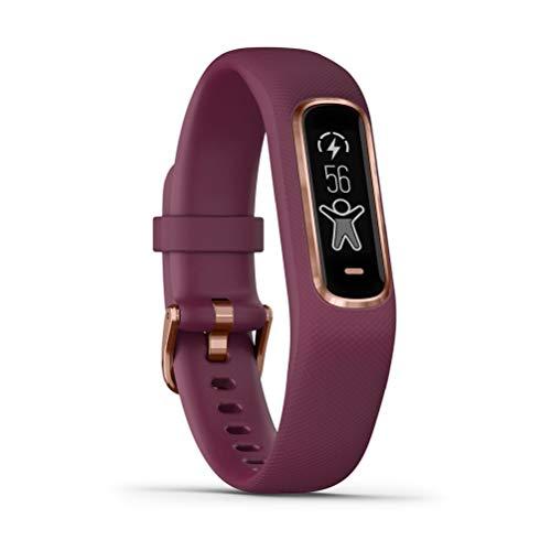 Garmin Vivosmart 4 Smart Fitness Tracker con Schermo Touch, Sensore Cardio e Pulse Ox, Berry/Rose Gold, Small/Medium