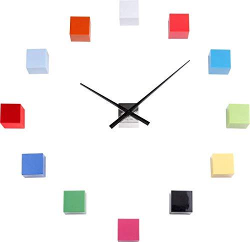 Karlsson DIY Cubic Uhr, Wanduhr, Kunststoff, Mehrfarbig, One Size