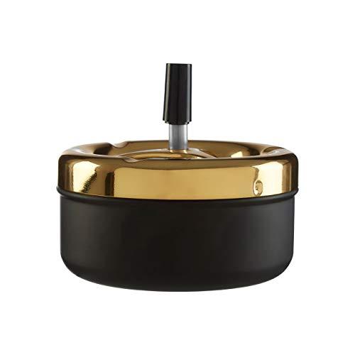 Posacenere a pressione, Ferro, PP - Polipropilene, nero/oro, small