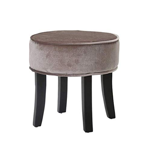 JIAXU Footstools & Ottomans Wooden Round Change Shoe Small Stool Be applicable compatible for Kitchen Living Room Bathroom Dining Dressing Stool
