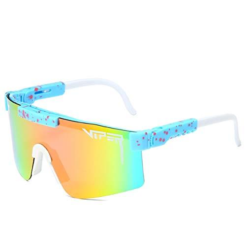 HUALUWANG Crótalo Gafas de Sol, Gafas de Sol Polarizadas para Ciclismo al Aire Libre Gafas de Running Anti-UV para Hombres y Mujeres (Color : C)