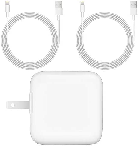 MFi Certified 12W USB Wall Charger for iPad iPhone 2 4A 12W iPad Charger with 2 Pack 6 Ft Lightning product image