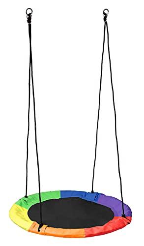 Columpio nido, diámetro de 100 cm, columpio nido, columpio doble para exterior, columpio redondo