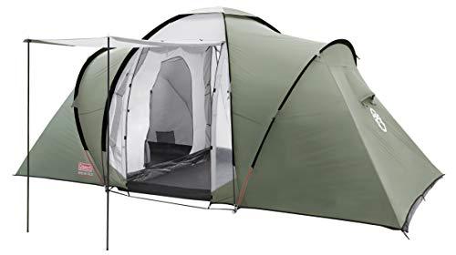 Coleman Zelt Ridgeline 4 Plus, 4 Mann Zelt, 4 Personen Vis-A-Vis Tunnelzelt, Campingzelt, Kuppelzelt mit Sonnendach, wasserdicht WS 3.000mm