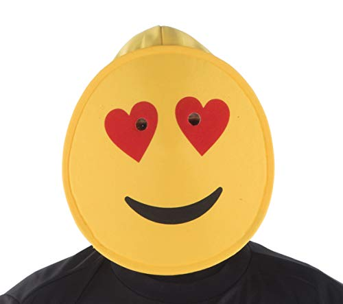 Dress Up America Corazones Sonrientes Máscara Emoji para Niños accesorios de la máscara de cabeza divertida
