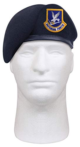 Rothco Inspection Ready Beret with USAF Flash - Midnight Navy Blue, 7 1/2