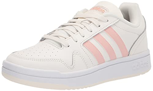 adidas Women's Post Up Basketball Shoe, Cloud White/Vapour Pink/White, 11