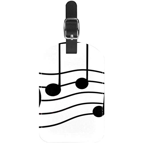 Luggage Tags Music Notes Leather Travel Suitcase Labels 1 Packs