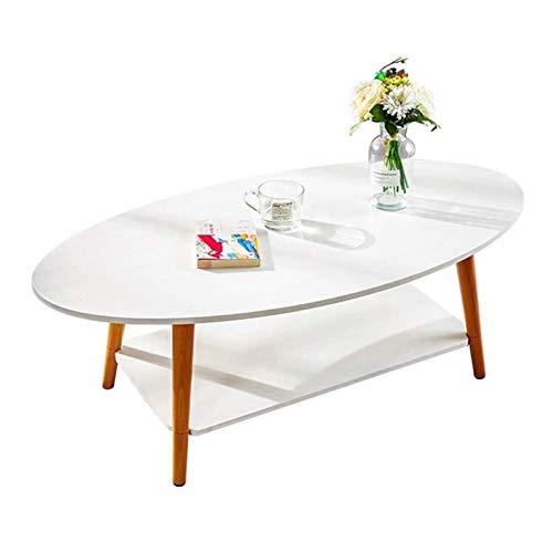 ZXNRTU Diseño simple Muebles mesa central Escritorio portátil Fin mesa decorativa Con Estante de almacenamiento for comer escritura de Trabajo del Ministerio del Interior de 2 niveles Mesa auxiliar So