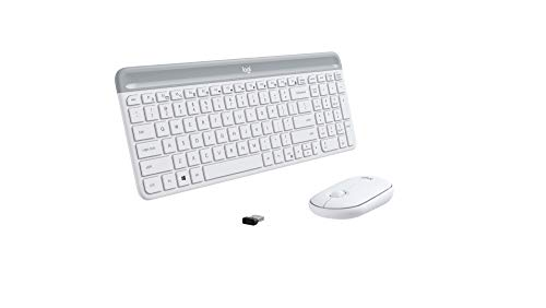 Logitech MK470 Slim Wireless Combo - Off White