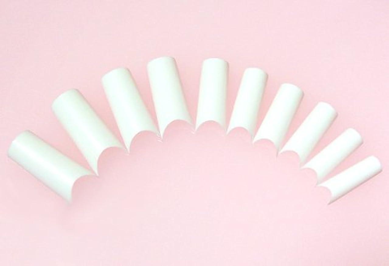正当な仲人小間ネイルチップ フレンチホワイト ハーフタイプ 500枚 [#2]スカルプチュア つけ爪付け爪