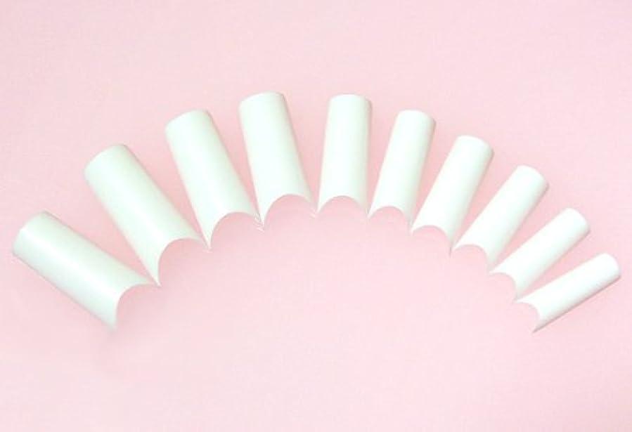 ナチュラル垂直ブリードネイルチップ フレンチホワイト ハーフタイプ 500枚 [#2]スカルプチュア つけ爪付け爪