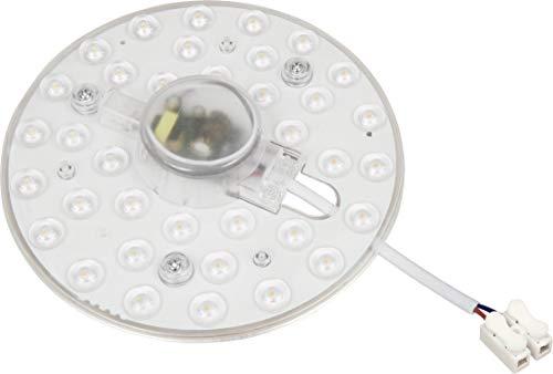 Módulo LED 230 V – 18 W 1800 lm – Kit de conversión con soporte magnético – para lámpara de techo lámpara de pared – blanco diurno (4000 K)