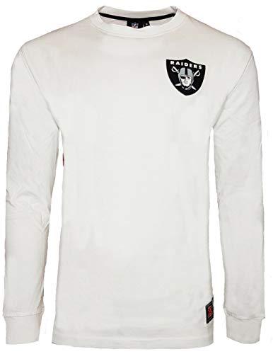 NFL Majestic Oakland Raiders Oversize Langarmshirt M beige