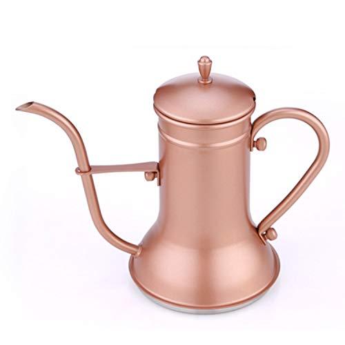 YXXHM- Long Cour Bouche Fine Bouche Pot, Ménage en Acier Inoxydable Pot de Lavage à la Main, Facile à contrôle Sailor Préparation du café Pot, 1200 CC