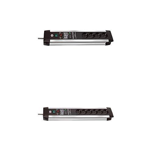 Brennenstuhl Premium-Protect-Line Steckdosenleiste 4-fach mit Überspannungsschutz (3m Kabel und Schalter) und Premium-Protect-Line Steckdosenleiste 6-fach mit Überspannungsschutz