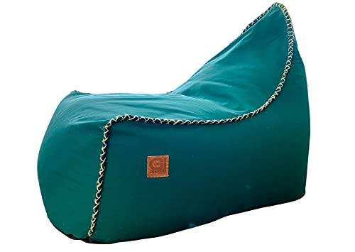 Timeout, poltrona lounge, Bean Bag, per interni ed esterni, Made in Germany (Forest Green)