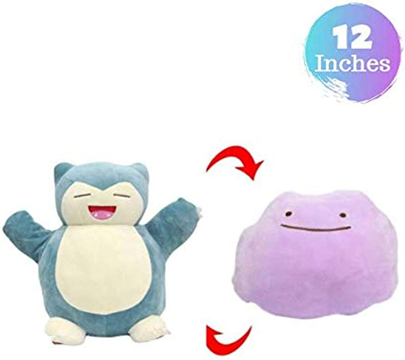 Tacumo New 2 In 1 Double Sided Snorlax Plush Toy Metamon Inside Out Ditto Becomes Snorlax Stuffed Doll Pillow Snorlax