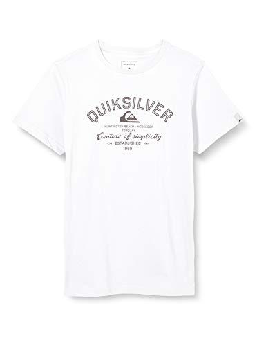 Quiksilver Jungen Creators of Simplicity-T-Shirt 8-16, White, M/12