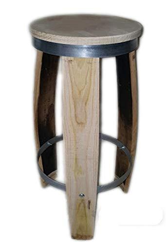 Elymostore Lattenrost aus Kastanienholz oder Eiche, 71 cm lang, mit Kreis aus Eisen, 4 mm, Modell 7