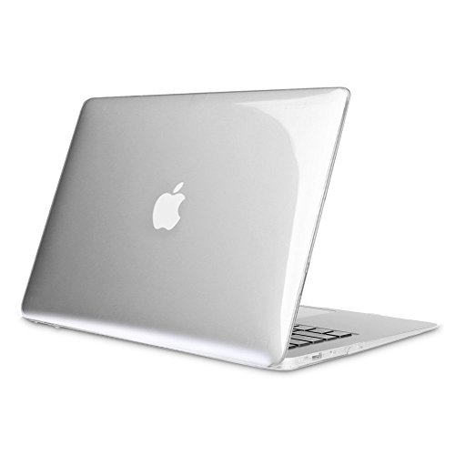 FINTIE Coque pour MacBook Air 13 A1466 / A1369 - Haute Qualité Plastique Transparent Dur étui Housse pour MacBook Air 13.3 Pouces (Version 2010-2017), Transparent Clair