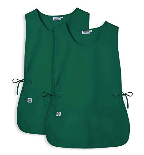 Sivvan Unisex Cobbler Apron (2 Pack) - Adjustable Waist Ties, 2 Deep front Pockets - S87002 - Hunter Green - X