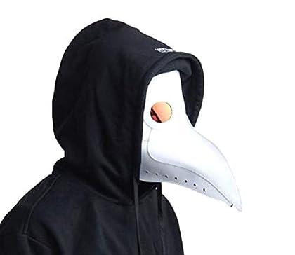 NEYORIKA コスプレ コスチューム ペストマスク ガスマスク 仮装 スチーム パンク お面 覆面 サバゲー (白−(目:反射))