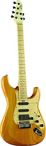 EKO Guitars 05130190 Standard Series AIRE E-Gitarre, natur mit geflammtem Ahorn-Schlagbrett