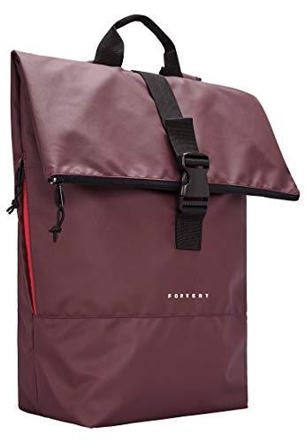 FORVERT Tarp Lorenz,Unisex,Damen,Herren,Daypack,Rucksack mit Innentasche,Seitentasche,gepolstert,verstärkter Boden,Plum,one Size
