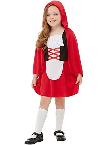 Funidelia   Disfraz de Caperucita roja para niña Talla 7-9 años ▶ Caperucita, Lobo Feroz, Cuentos - Rojo